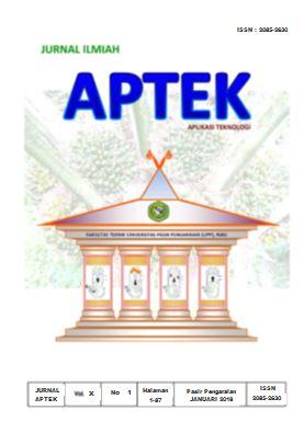 View Vol. 10 No. 1 (2018): JURNAL APTEK FAKULTAS TEKNIK UPP