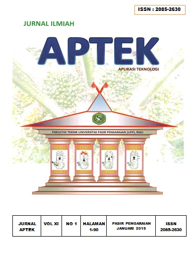 View Vol. 11 No. 1 (2019): Jurnal APTEK Edisi XI No 1 2019