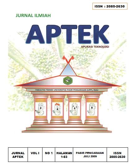 View Vol. 1 No. 1 (2009): APLIKASI TEKNOLOGI