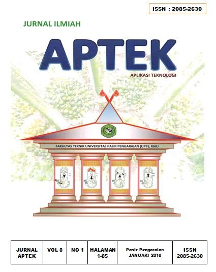 View Vol. 8 No. 1 (2016): Jurnal Ilmiah APTEK (APLIKASI TEKNOLOGI)