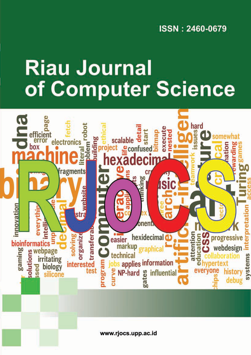 View Vol. 1 No. 1 (2015): Riau Journal Of Computer Science