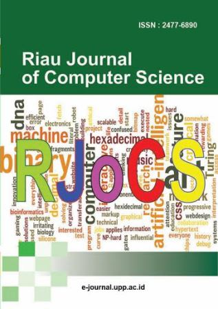 View Vol. 2 No. 1 (2016): Riau Journal Of Computer Science