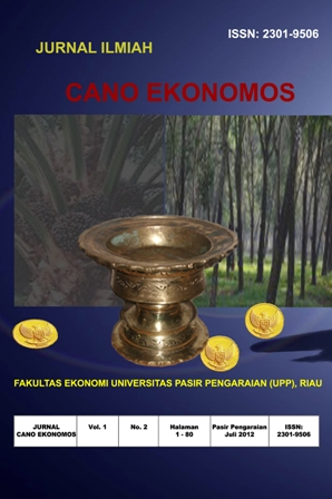View Vol. 1 No. 2 (2012): Jurnal Fakultas Ekonomi