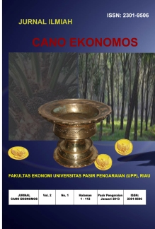 View Vol. 2 No. 1 (2013): Jurnal Ilmiah Fakultas Ekonomi
