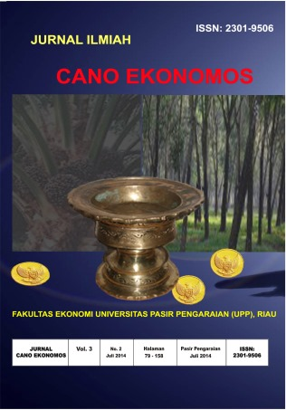 View Vol. 3 No. 2 (2014): Jurnal Cano Ekonomos