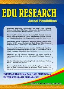 View Vol. 1 No. 1 (2012): Jurnal Pendidikan